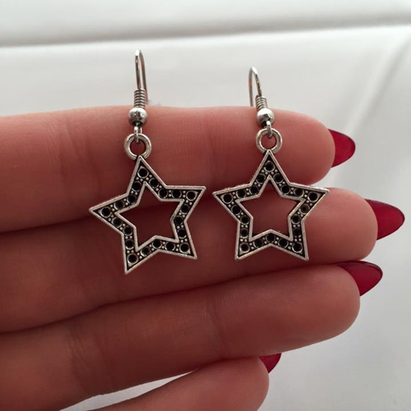 Kristy's Jewels Jewelry - Silver Super Star Earrings Hypoallergenic Hooks!